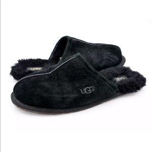 UGG Womens Pearle Suede Sheerling Wool Slipper